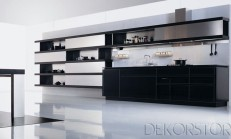 Siyah Ankastre Mutfak Modelleri 2014