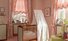 Bebek Odaları İçin Renkli Perde Modelleri