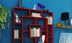 Dekoratif Renkli Kitaplık Modelleri