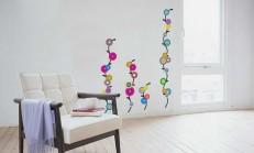 Evinize Renk Katacak 16 Çiçekli Duvar Stickeri