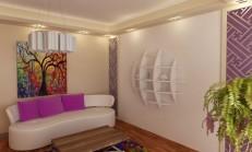 16 Dekoratif Renkli Duvar Rafı Modeli