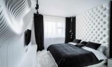 Siyah Beyaz Yatak Odalarında Gece Gündüz Zıtlığı