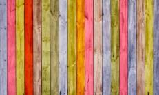 Yeni Moda Renkli Ahşap Dekorasyonu