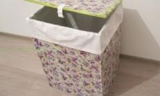 Karton Kutudan Çamaşır Sepeti Yapımı