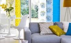 Rengarenk Perdeler ile Oturma Odalarının Davetkar Halleri