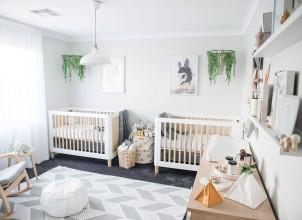 İkiz Bebek Odası Tasarımları