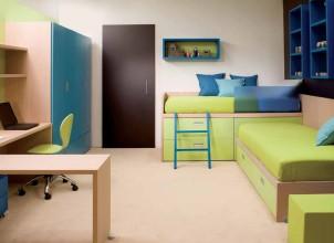 Dar Odalar İçin İki Kişilik Genç Odası