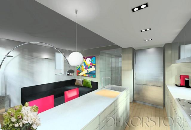 Beyaz modern ev dekorasyon modelleri