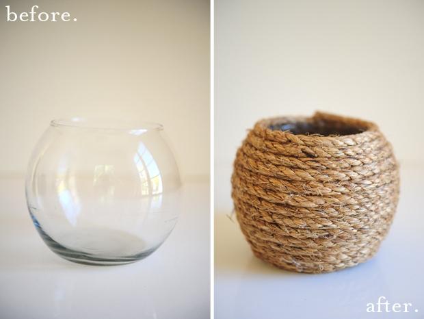 hasır vazo yapımı Öncesi ve Sonrası