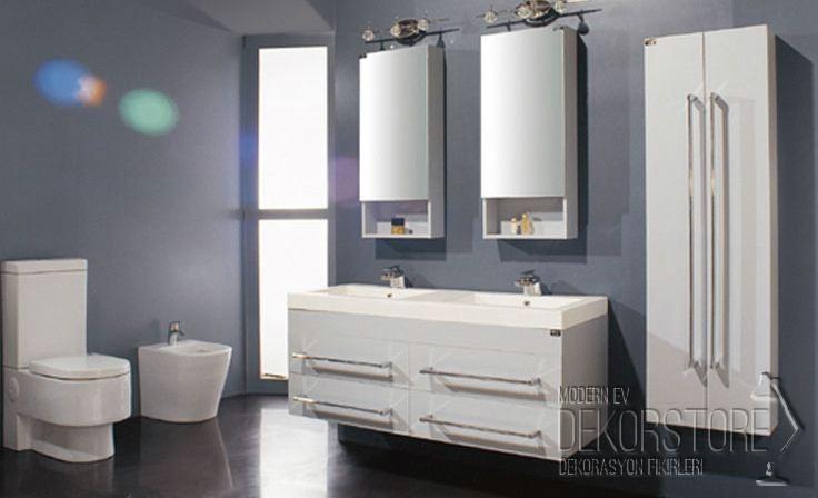 Beyaz 2014 Banyo Dolap Modelleri Dekorstore