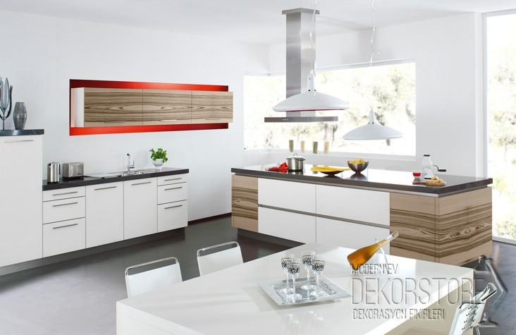Ada tipi mutfak modelleri 2014