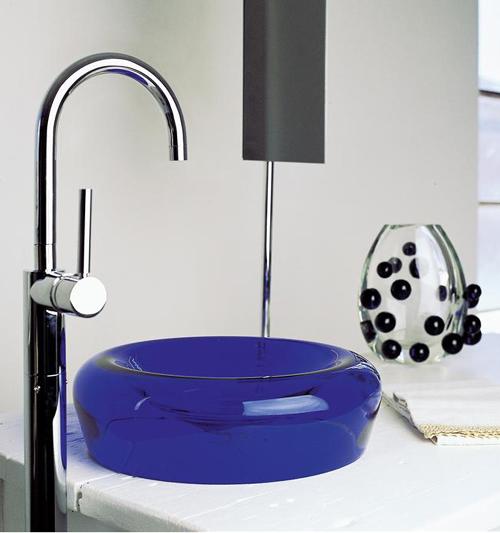 Dekoratif cam lavabo modelleri 2014
