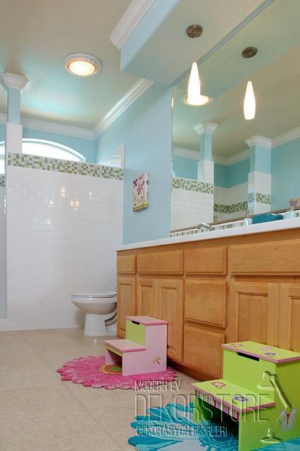 çocuk için banyo dekorasyonu