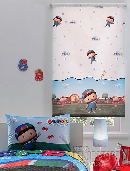 taç çocuk odası için perde modeli