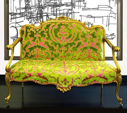 altın yaldızlı kanepe modeli