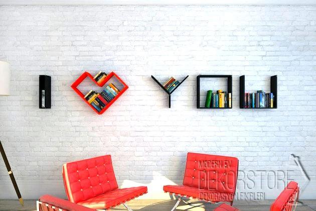 dekoratif duvar rafı modelleri 2014