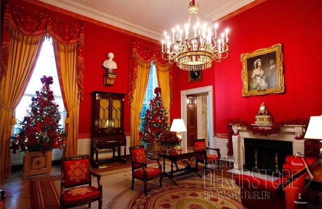 kırmızı ev dekorasyon modelleri