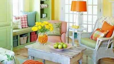 Renkli Salon Dekorasyon Fikirleri