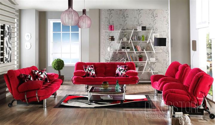 Kırmızı oturma grubu modelleri 2014