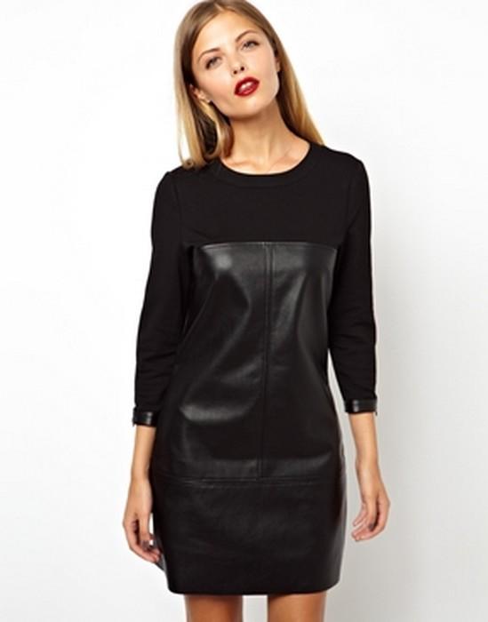 a28755ff0583c siyah deri elbise modelleri - DekorStore