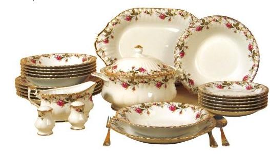 kütahya porselen çiçek desenli yemek takımı