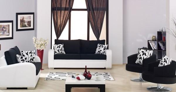 Kilim Mobilya Siyah Beyaz Oturma Grubu Dekorstore