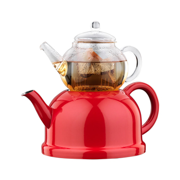 korkmaz kırmızı çaydanlık modeli