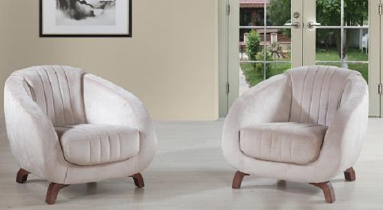 modern krem tekli koltuk modelleri