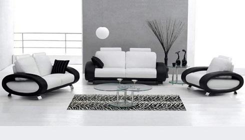 Modern Siyah Beyaz Oturma Gruplari Dekorstore