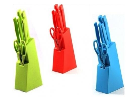 renkli şık bıçak setleri