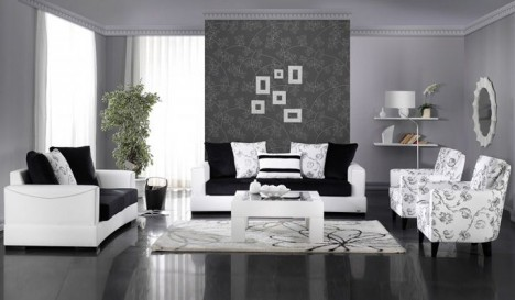Siyah Beyaz Ikea Oturma Grubu Dekorstore