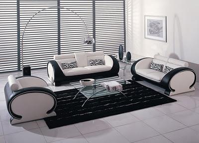 siyah beyaz oturma grubu