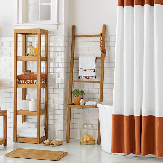 dekoratif ahşap banyo rafları