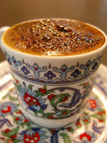 saray motifli kütahya porselen kahve takımı