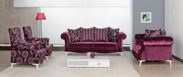 Mor-kadife-desenli-berjer-tasarımlı-modalife-koltuk-takımı-örnekleri