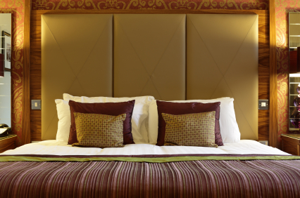 Luxurious hotel bed