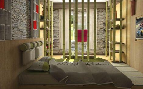 dekoratif-japon-yatak-odası-tasarımı