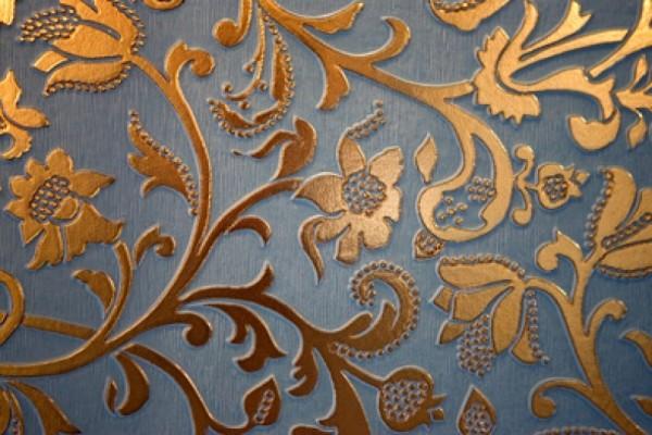 kabartma desenli lüks duvar kağıdı