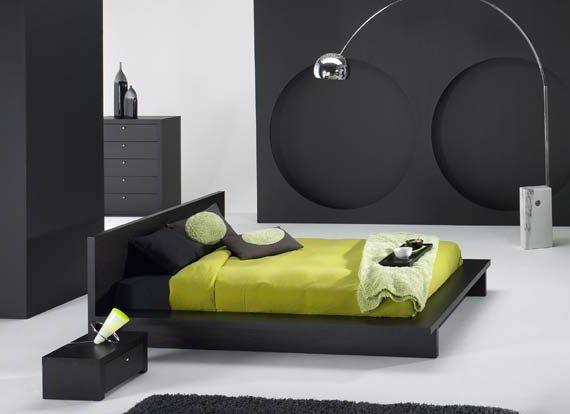 modernsiyah-yatak-odası-dekorasyonu