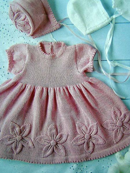 örgü bebek elbise modeli