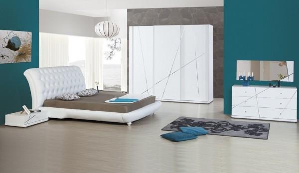 beyaz modern yatak odası