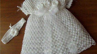 2014 Örgü Bebek Elbise Modelleri