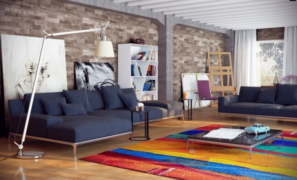 loft living room decorating ideas ikea modern oturma grupları dekorstore 22922