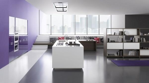 mor beyaz mutfaklar