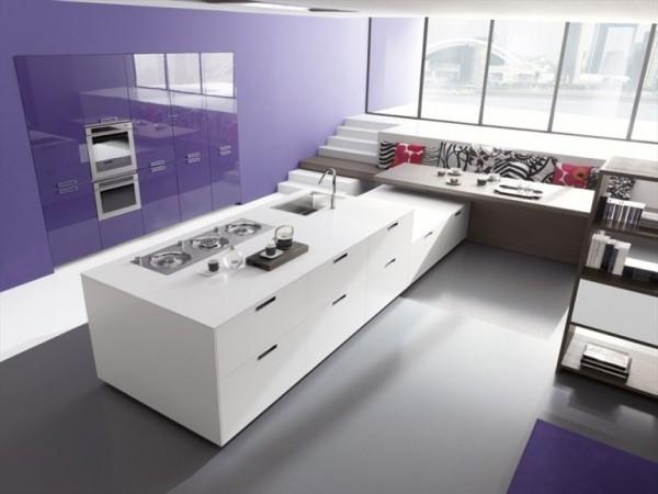 mor lila mutfak dekorasyonu