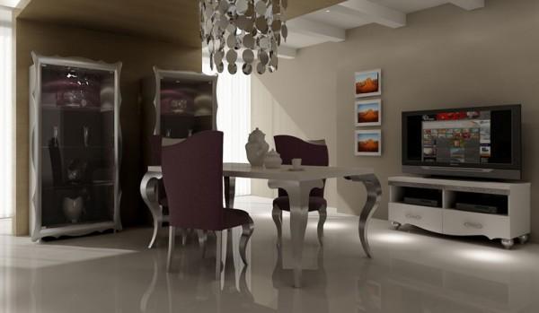 poyraz_gümüş varaklı yemek_odasi