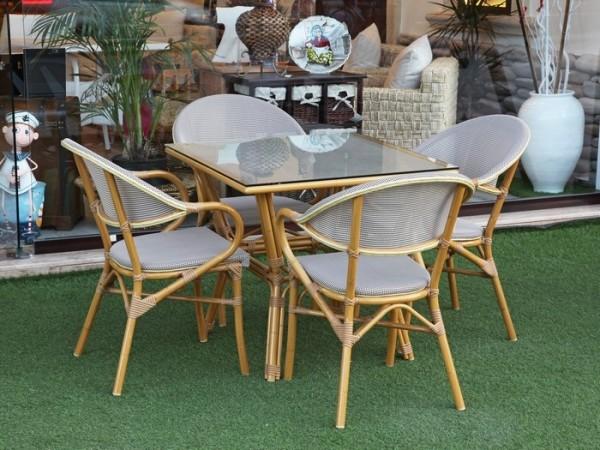 bambu bahçe masa takımı