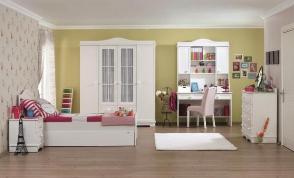 beyaz modern genç odaları
