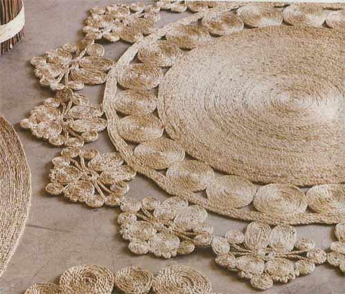 el yapımı dekoratif halı