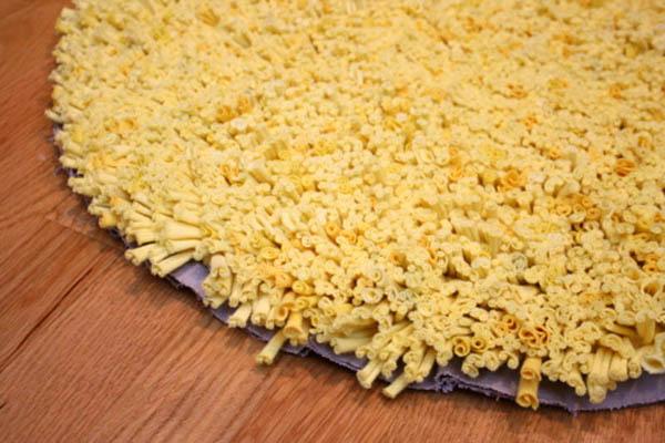 el yapımı penye kumaş halı